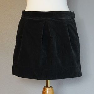 Madewell Charcoal Gray Corduroy Mini Skirt